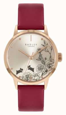 Radley | Women's | Red Leather Strap | Silver Dial | RY21244A