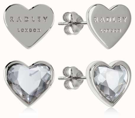 Radley Jewellery Love Heart | Sterling Silver Heart Stud Earrings | Set RYJ1157S-CARD
