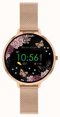 Reflex Active Series 3 Smart Watch   Rose Gold Stainless Steel Mesh  Strap RA03-4038