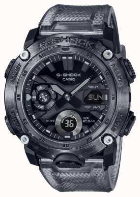 Casio G-Shock | Skeleton Grey Series | Grey Transparent Plastic Strap | Grey Dial GA-2000SKE-8AER