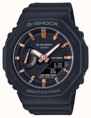 Casio Mid Sized G-Shock | Black Resin Strap | Black Dial GMA-S2100-1AER