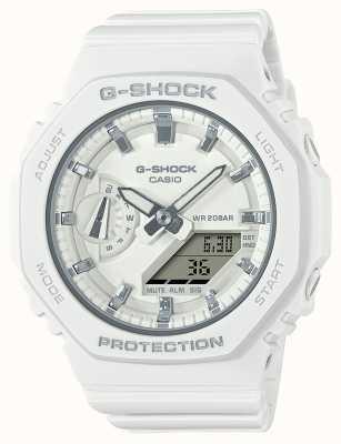Casio Mid Sized G-Shock | White Resin Strap | White Dial GMA-S2100-7AER
