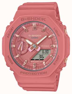 Casio Mid Sized G-Shock | Pink Resin Strap | Pink Dial GMA-S2100-4A2ER