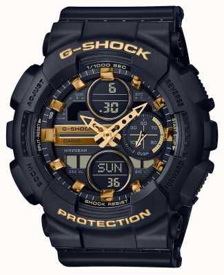 Casio Unisex Sports | G-Shock | Black Resin Strap | Black Dal | GMA-S140M-1AER