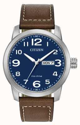 Citizen Men's Eco-Drive Brown Leather Strap WR100 BM8471-19L