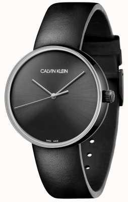 Calvin Klein Women's Black Leather Strap | Black Dial KBL234C1