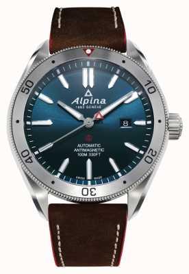 Alpina Men's Alpiner 4 Automatic | Brown Leather Strap | Blue Dial AL-525NS5AQ6