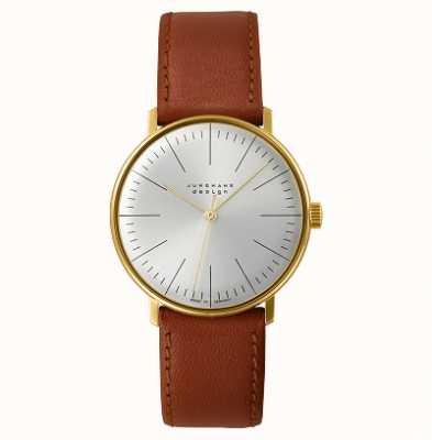 Junghans Max Bill Handaufzug Leather Strap Watch 027/5703.04