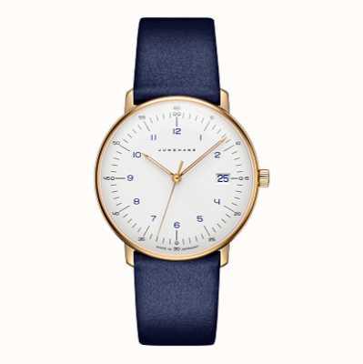 Junghans Max Bill Damen Blue Leather Strap 47/7851.04