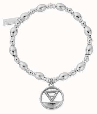 ChloBo Oval Bead Earth Bracelet | Sterling Silver SBOB3120