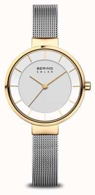 Bering Women's Solar Watch Gold/Silver 14631-024