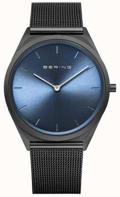 Bering Ultra Slim Black Milanese Mesh Watch 17039-227