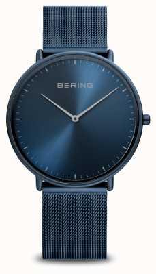 Bering Classic Blue Steel Mesh Bracelet 15739-397
