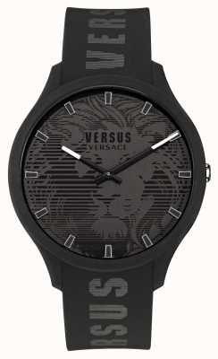 Versus Versace Men's Domus Black Silicone Strap Watch VSP1O0521
