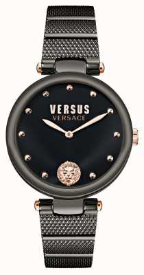 Versus Versace Versus Los Feliz Black Plated Watch VSP1G0721