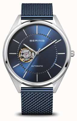 Bering Automatic | Men's | Polished/Brushed Silver | Blue Dial 16743-307