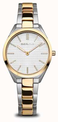 Bering Ultra Slim | Women's | Polished/Brushed Silver/Gold | White Dial 17231-704