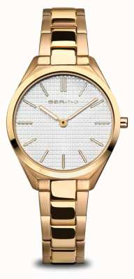 Bering Ultra Slim | Women's | Polished/Brushed Gold | White Dial 17231-734