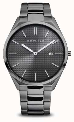 Bering Ultra Slim   Men's   Polished/Brushed Grey   Grey Dial 17240-777