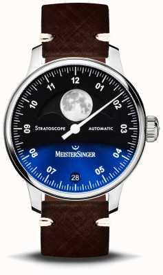 MeisterSinger Stratoscope 43mm Leather Strap ST982