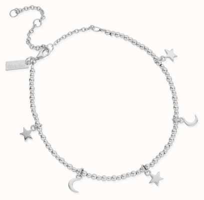 ChloBo Mini Cute Moon & Stars Anklet | Sterling Silver SANMC8061104