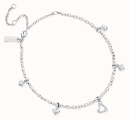 ChloBo Mini Cute Multi Heart Anklet | Sterling Silver SANMC1199399