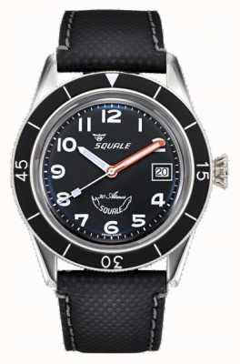 Squale SUB-39 | Black Arabic | Black Dial | Black Leather Strap SUB-39MON