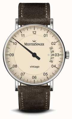 MeisterSinger Mens | Vintago | Suede | Leather Strap MEISTERSINGER VT903- SV02