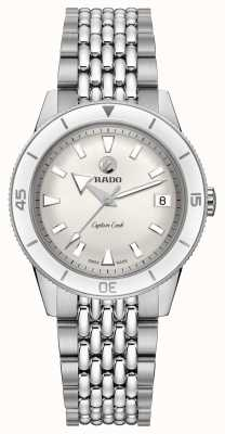 RADO 'Captain Cook' Automatic Stainless Steel Bracelet White Dial R32500013