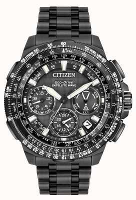 Citizen GPS Navihawk Satellite Wave | Black Super Titanium CC9025-85E
