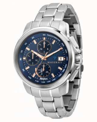 Maserati Successo Solar Men's Blue Dial Watch R8873645004