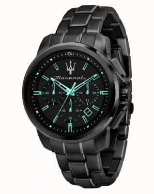 Maserati Successo Aqua Edition Black Plated Watch R8873644003