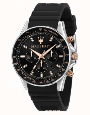 Maserati SFIDA Men's Silicone Strap Watch R8871640002