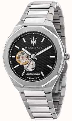 Maserati Men's Stile Automatic | Stainless Steel Bracelet | Black Dial R8823142002