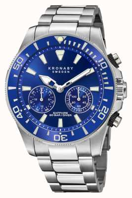 Kronaby Diver Collection | Bluetooth | Blue Dial | Stainless Steel S3778/1