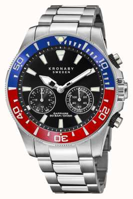 Kronaby Diver Collection | Bluetooth | Black Dial | Stainless Steel S3778/4