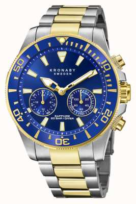 Kronaby Diver Collection | Bluetooth | Blue Dial | Two Tone Steel Bracelet S3779/1