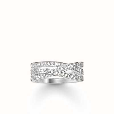 Thomas Sabo Women band ring infinity 925 Sterling Silver TR2086-051-14 abTQOx